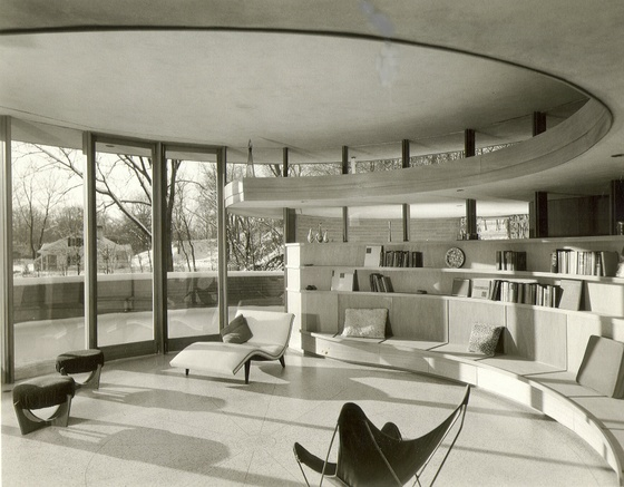 Frank lloyd wright round houses for Architecture 60s