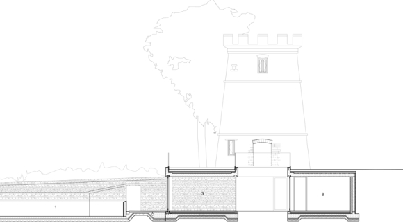 round tower, gloucester - plans
