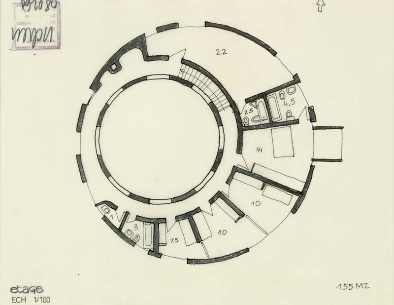 Floor plans round houses for Circular house floor plans