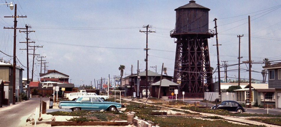 watertower, sunset beach, 1966