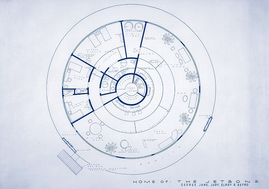 Round Homes Floor Plans: Meet George Jetson's House « Round Houses