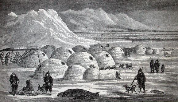 Inuit village, 1861